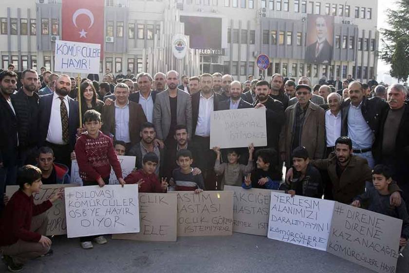 Dilovası halkı 'Kömürcüler OSB'ye hayır' dedi