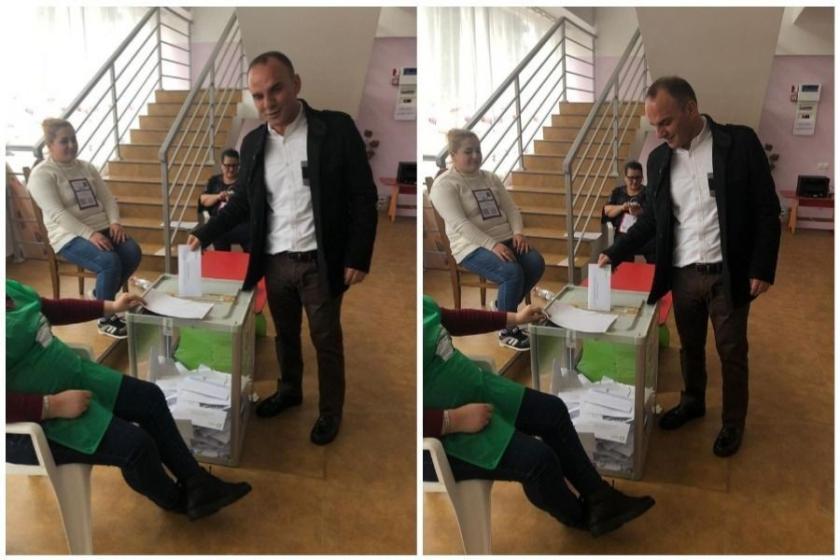 Gürcistan'a kaçan Galip Öztürk oy kullanırken fotoğraf paylaştı