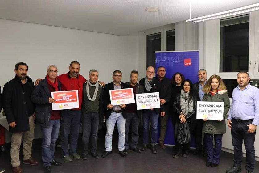 Türkiyeli sendikacılar Almanya'daki sendikacılarla görüştü