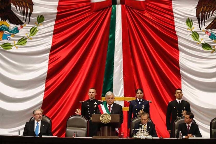Meksika'nın yeni Devlet Başkanı Obrador yemin etti