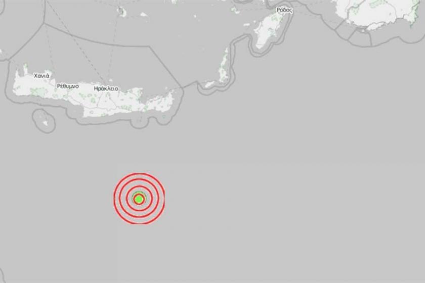 Akdeniz'de 4.3 büyüklüğünde deprem