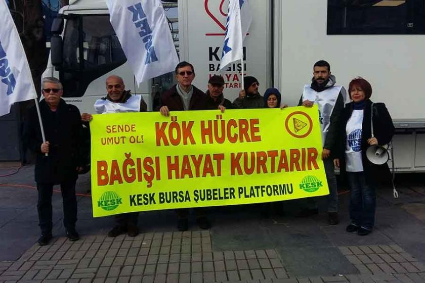KESK Bursa'da Öykü Arinler için kök hücre kampanyası başlattı