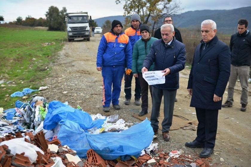 Bursa Nilüfer'de atık kirliliği yaratanlara tepki