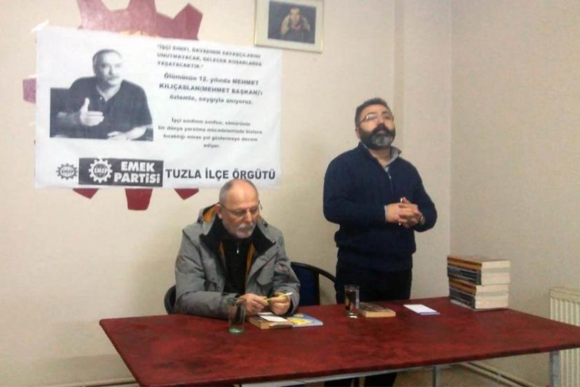 Tuzlalı işçiler, işçi önderi Memet Kılınçaslan'ı andı