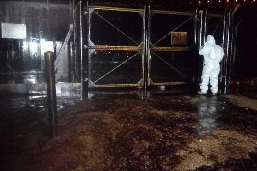 Antep'te petrol boru hattına yıldırım düştü