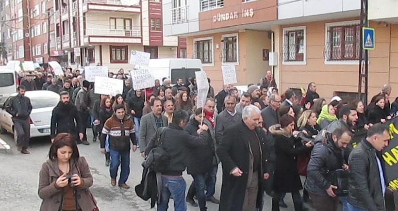 Alibeyköy'de 'İç Güvenlik Paketi'ne karşı eylem
