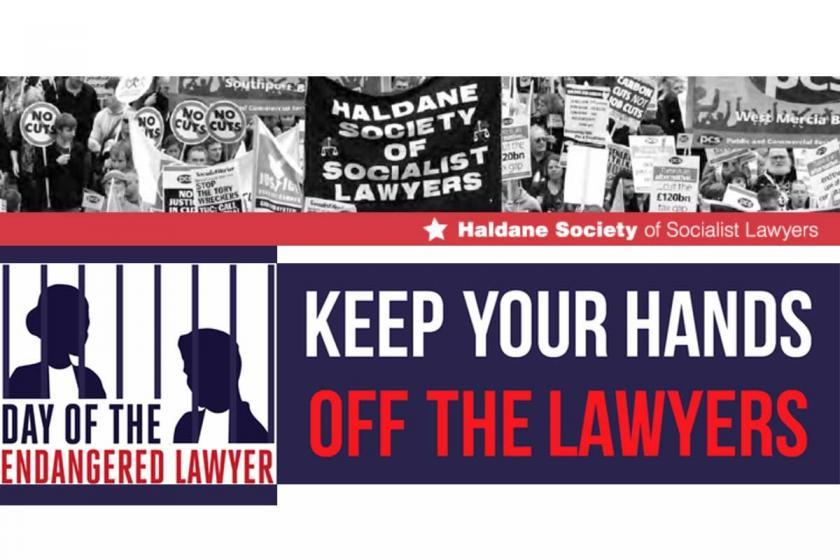 İngiltere'de 'Sosyalist Avukatlar'dan Türkiye protestosu