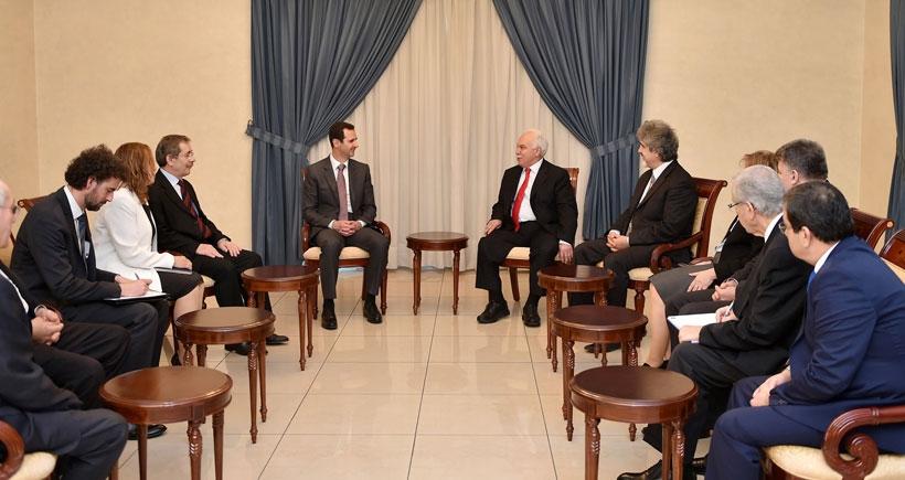 Doğu Perinçek Şam'da Beşar Esad ile görüştü