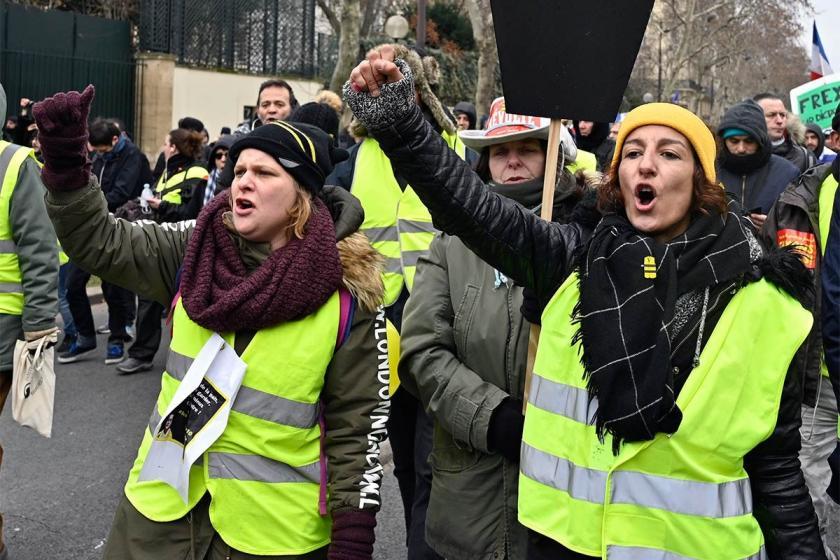 Fransa'da Sarı Yelekliler 11'inci kez sokakta