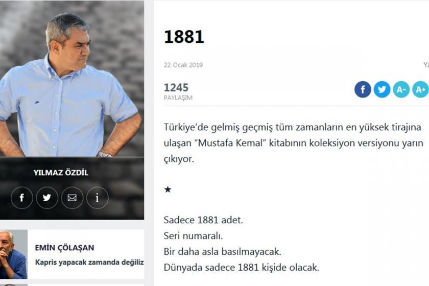 Yılmaz Özdil, 2 bin 500 liraya satılacak Atatürk kitabını savundu