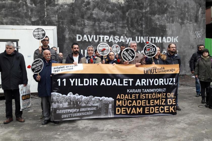 Adalet arayan işçi aileleri: Davutpaşa'nın sorumluları yargılansın