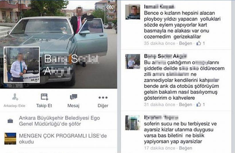 EGO Şoförü: Özgecan eylemine katılan kadınları s... s... öldürecen