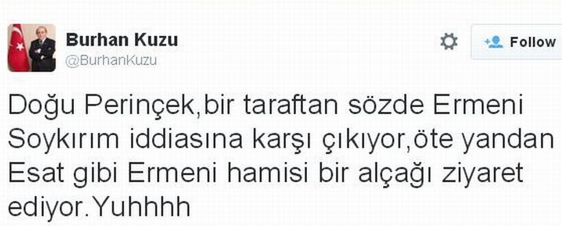 AKP'li Kuzu: Ermeni hamisi alçak!
