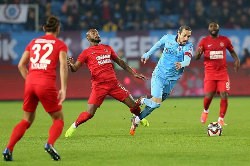Trabzonspor ile Ümraniyespor, çeyrek final ilk maçında golsüz berabere