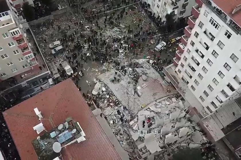Kartal'da yıkılan bina ve imar barışı
