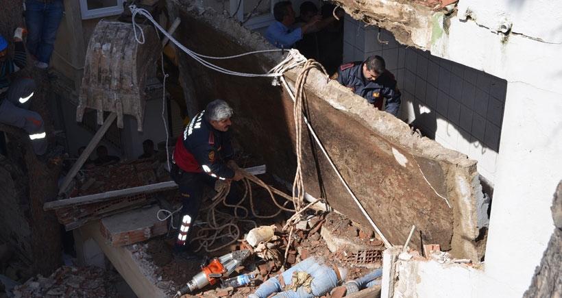 Didim'de yıkım sırasında göçük: 1 işçi öldü, 5 işçi yaralandı