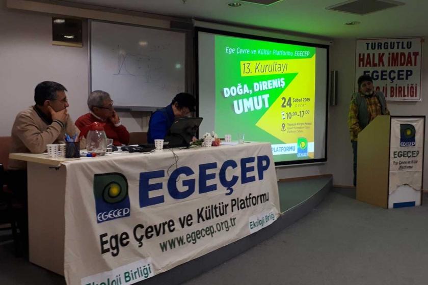 """EGEÇEP, 13. kurultayını """"Doğa, direniş, umut"""" sloganıyla topladı"""
