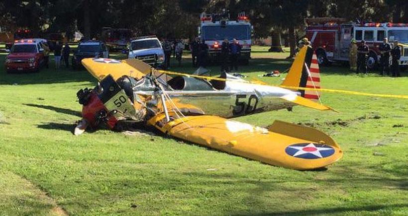 Harrison Ford uçak kazasında ağır yaralandı