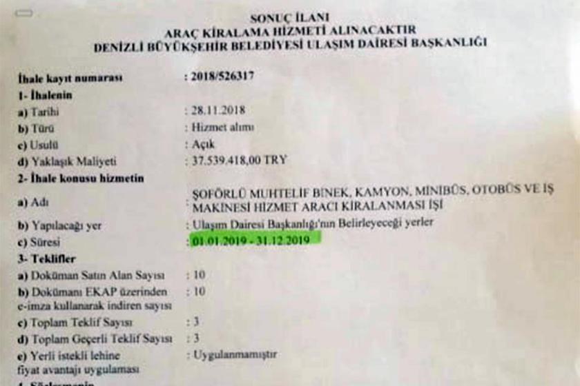 AKP'li Denizli belediyesinden 35 milyonluk kanuna aykırı ihale iddiası