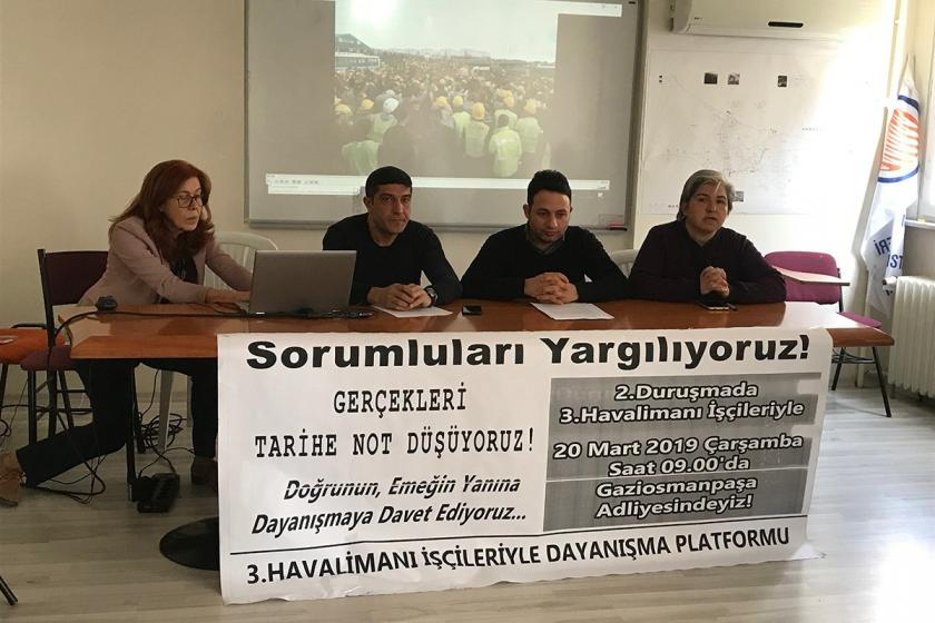 3. Havalimanı işçilerinin 20 Mart'taki duruşmasına çağrı yapıldı