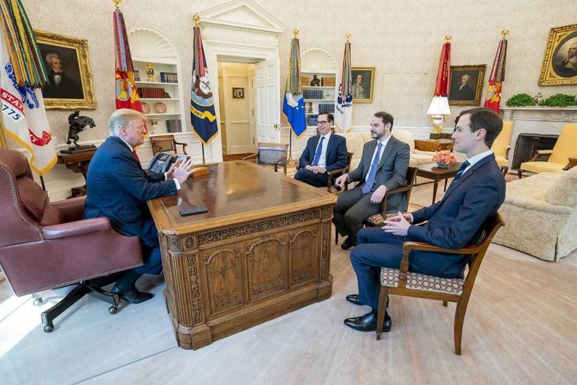 Bakan Berat Albayrak, Washington'da ABD Başkanı Trump ile görüştü