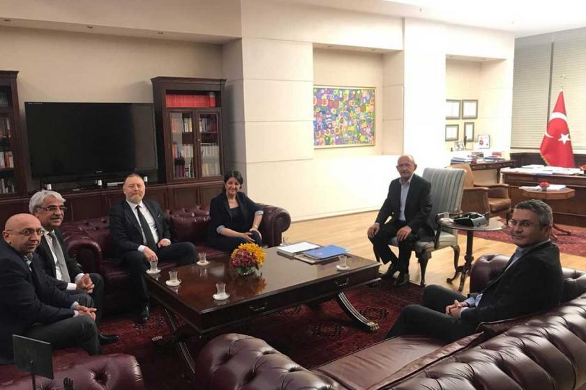 HDP'den Kemal Kılıçdaroğlu'ya geçmiş olsun ziyareti