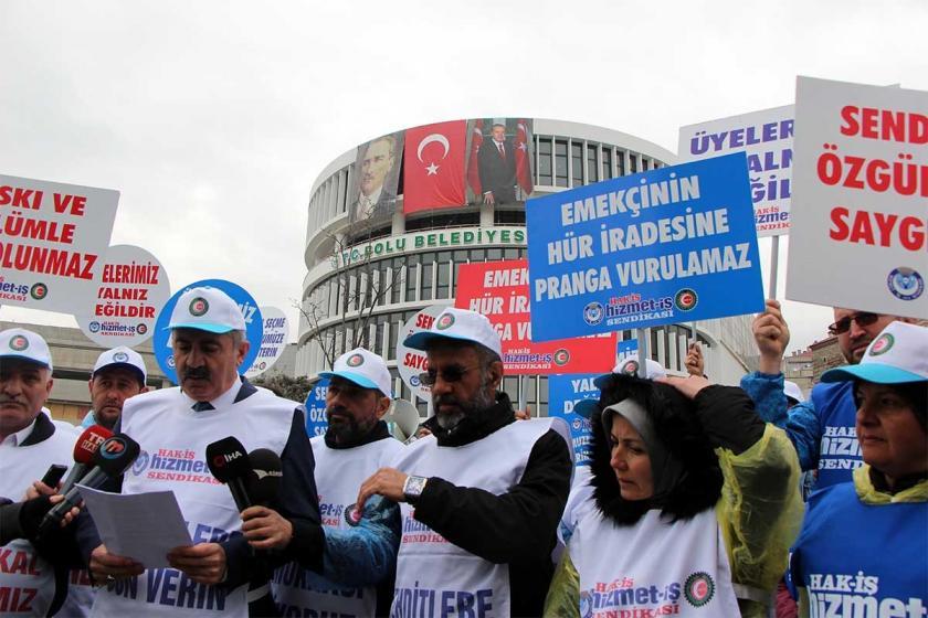 Bolu'da işten atılan belediye işçileri Ankara'ya yürüyecek