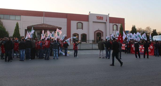 Ruba işverenin baskısı protesto edildi