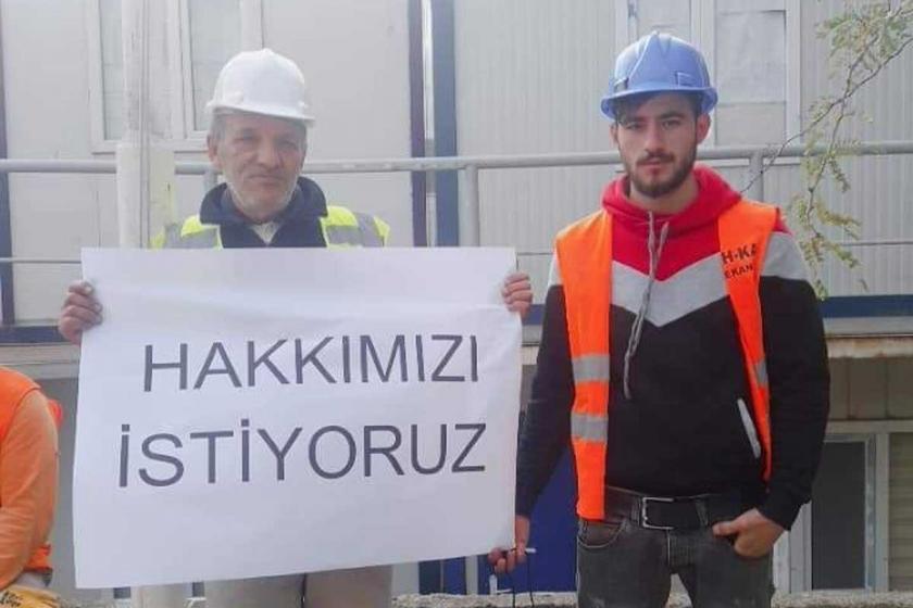 Garanti Bankası inşaatı işçilerinin maaşı 3 aydır ödenmiyor