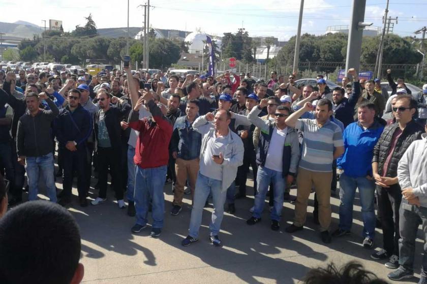 İzmit TÜPRAŞ işçileri, Aliağa'yı ziyaret etti: El ele direniş
