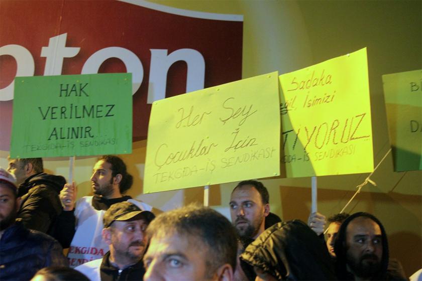 Lipton işçilerine destekler sürüyor