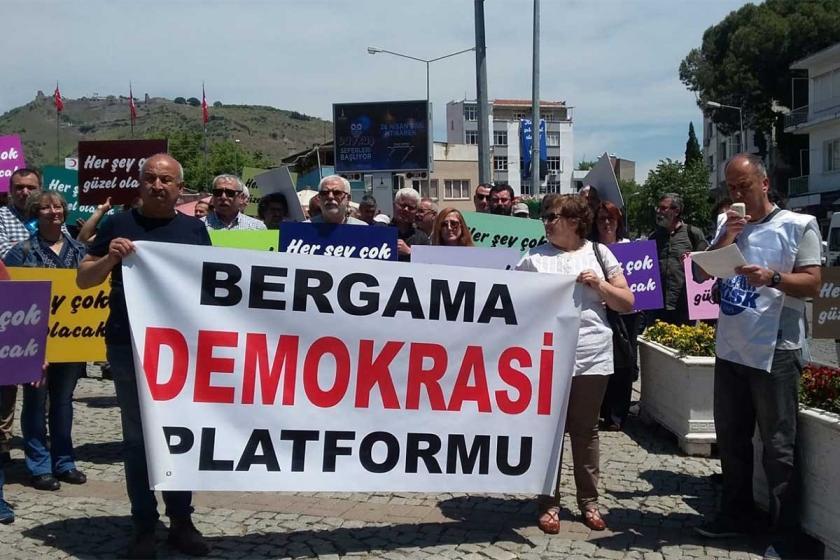 Bergama Demokrasi Platformu Soma'yı unutturmadı