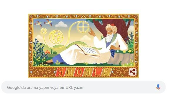 Google ÖmerHayyam'ın doğum gününe özel doodle yaptı