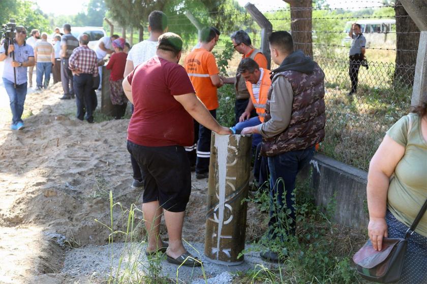 Aydın'da izinsiz JES çalışması başlatan firmaya halk tepki gösterdi