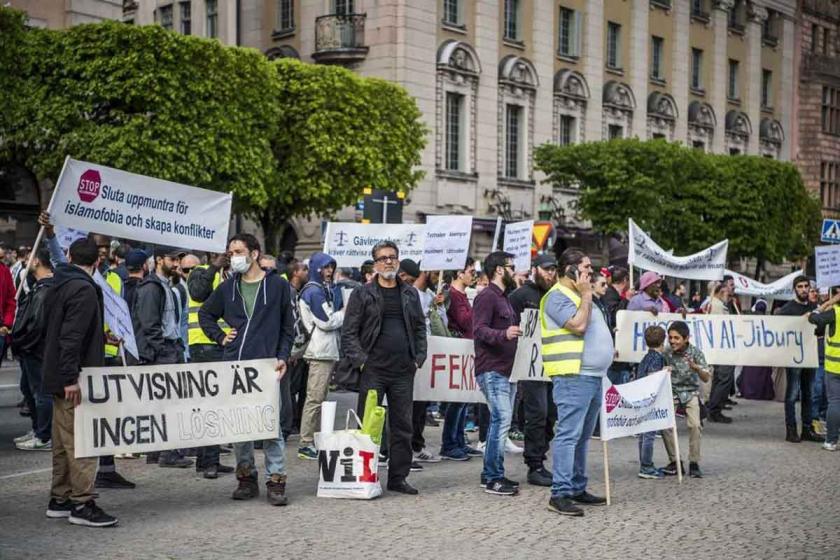 Stockholm'de IŞİD gözaltıları protesto edildi