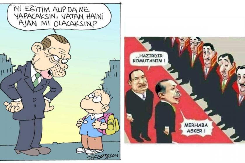 İnşaat işçisine karikatür paylaştığı için hapis cezası verildi