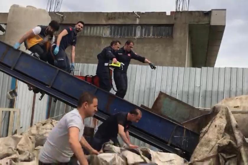 Ümraniye'de plastik öğütücü makinasına düşen çocuk öldü