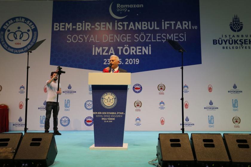 AKP'nin adayı Yıldırım'ın İBB'nin imza törenine katılmasına tepki