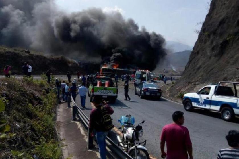 Meksika'da trafik kazası