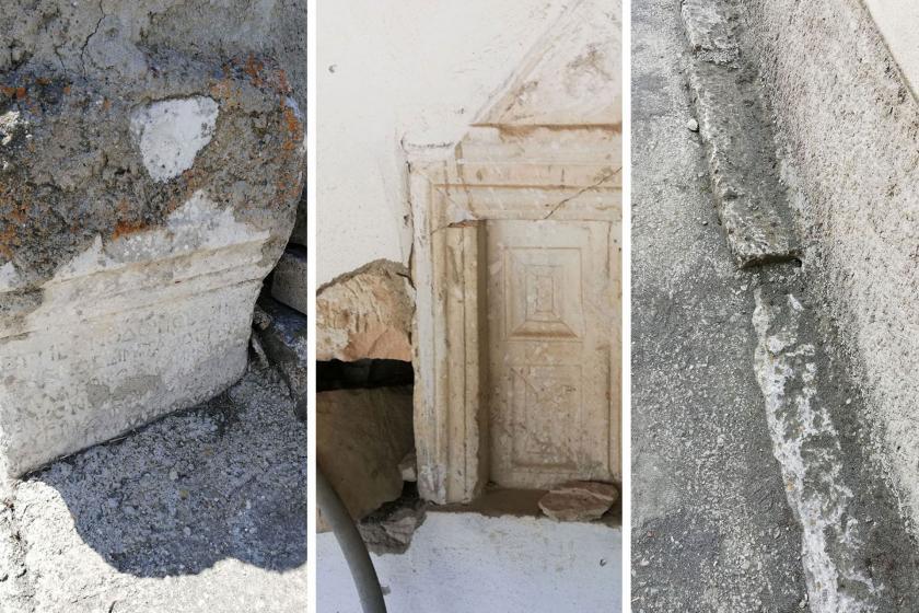 Bursa'da Bizans dönemine ait yapıların bulunduğu cami talan ediliyor