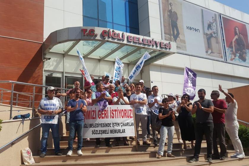KESK'ten Çiğli Belediyesinde işten atılan emekçilere destek