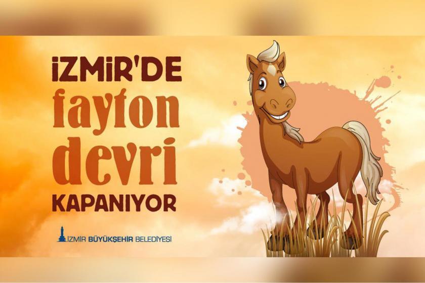 İzmir'de faytonlar kaldırıldı