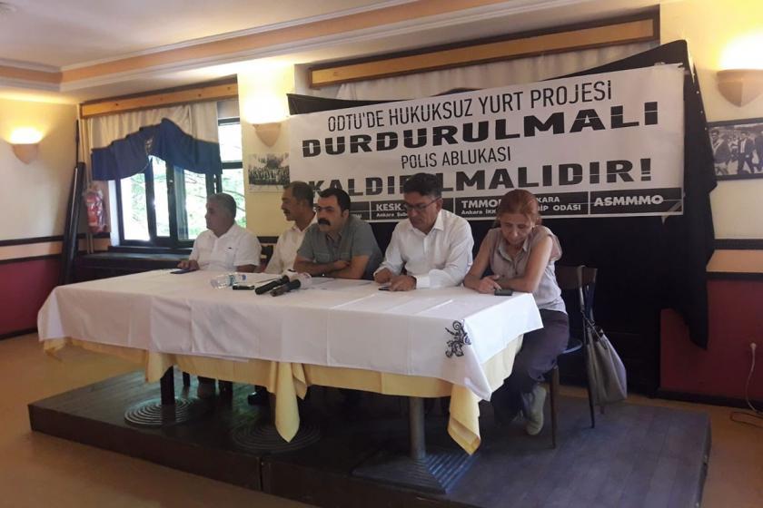 Ankara'daki sendikalar ve meslek odaları: ODTÜ'deki hukuksuzluk durdurulsun