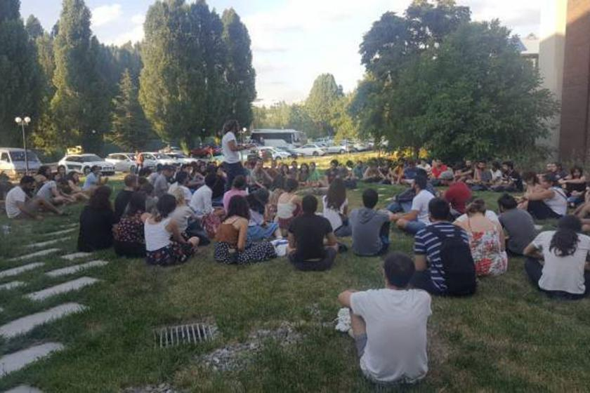 ODTÜ'lü öğrenciler KYK inşaatını mühürledi