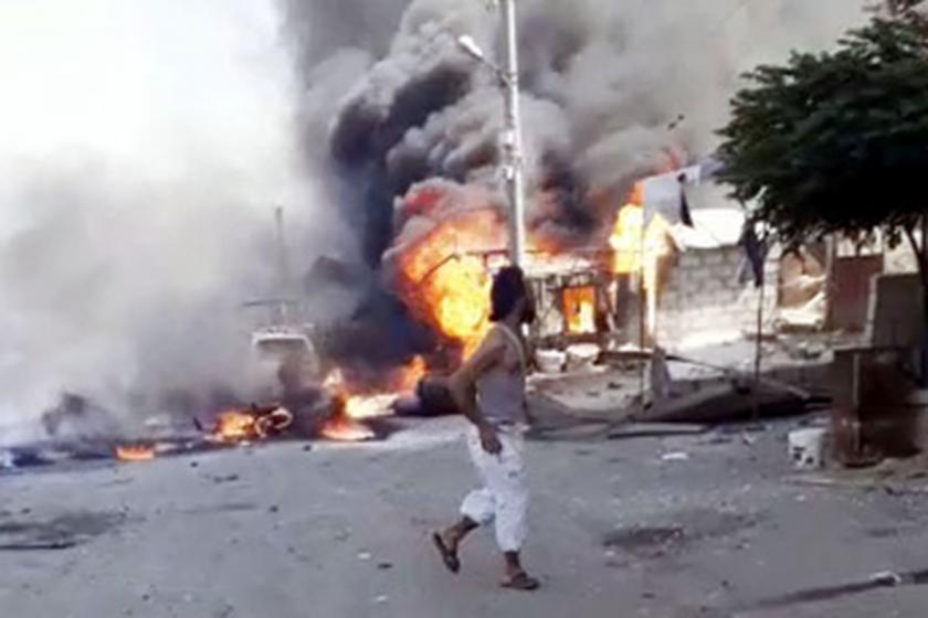 Afrin'de bomba yüklü yakıt tankeri patladı: 13 kişi öldü