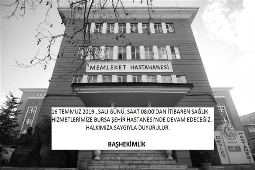 Bursa'da devlet hastanesi kapatılıyor, sağlığa ulaşım zorlaşacak