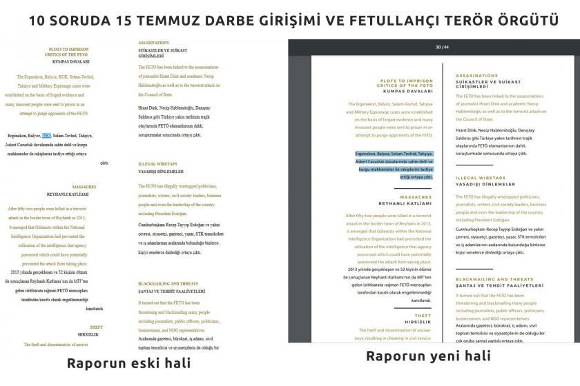 """Cumhurbaşkanlığının 15 Temmuz raporundaki """"Kumpas davaları""""ndan """"KCK"""" çıkarıldı"""