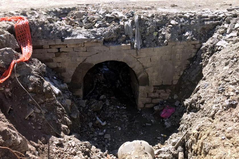 Zonguldak'ta selin ardından tarihi köprü ortaya çıktı
