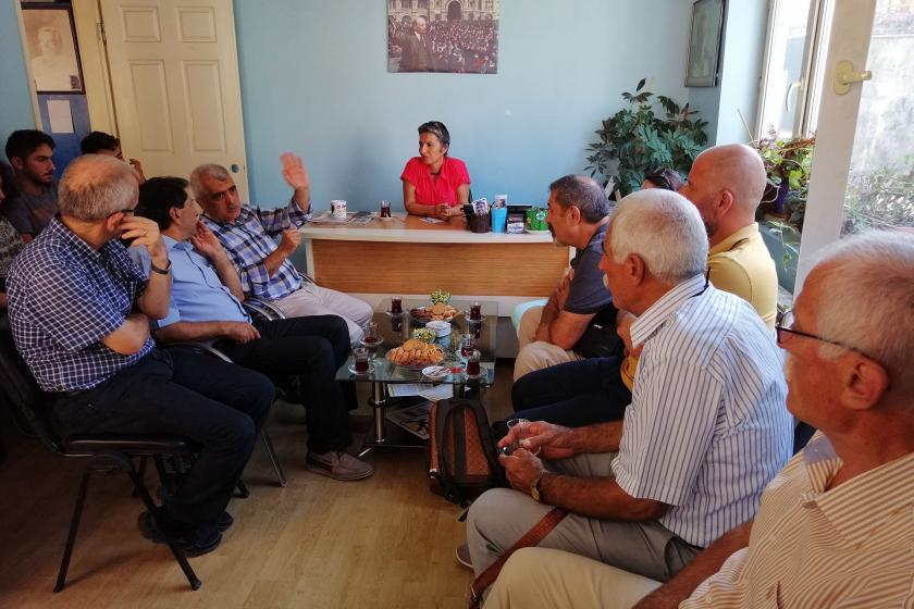 HDP'li Ömer Gergerlioğlu, Emek Partisi'ni ziyaret etti