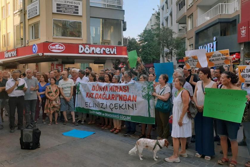 İstanbul ve İzmir'de Kaz Dağları protestosu: AKP elini doğamızdan çek